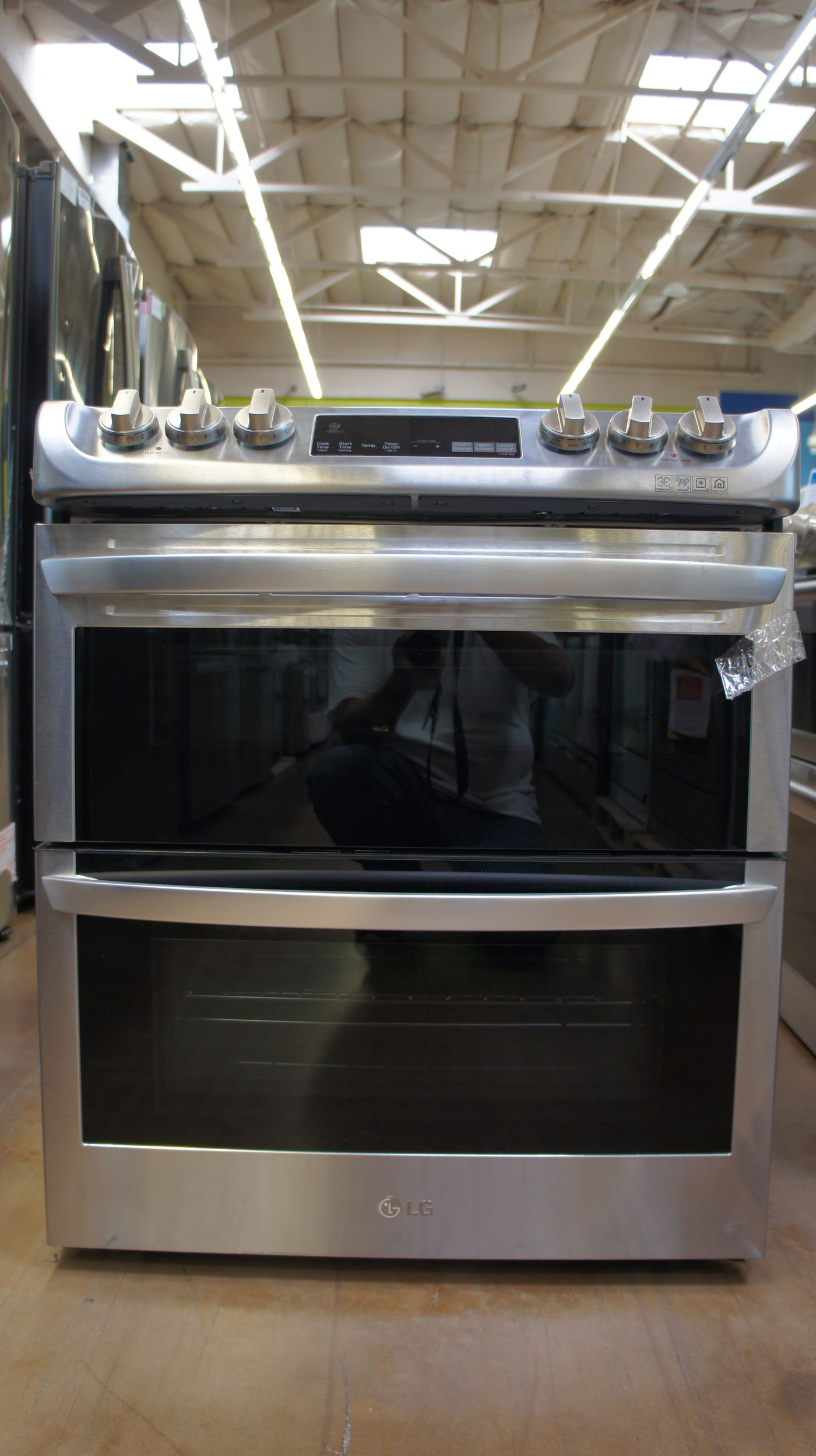 """30"""" LG LTE4815ST 7.3 cu.ft. Slide-In Double Oven Electric Range"""