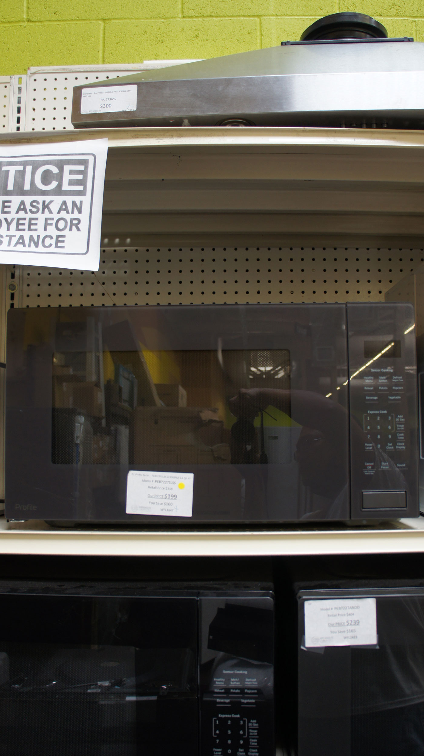2.2 cu.ft. GE Profile PEB7227SLSS Built-In Microwave Oven