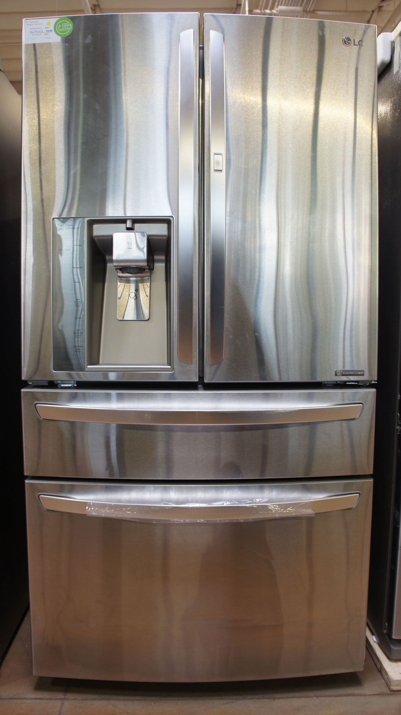 "36"" LG LMXS30776S 29.7 cu.ft. 4Door French Door Refrigerator"