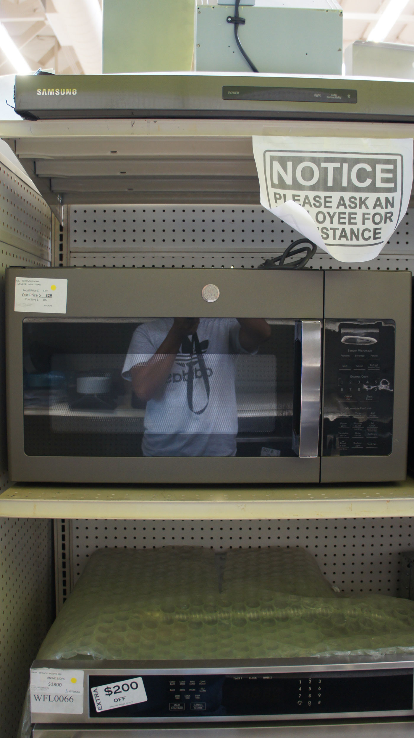 1.7 cu.ft. GE JVM6175EKES Over-The-Range Microwave Oven