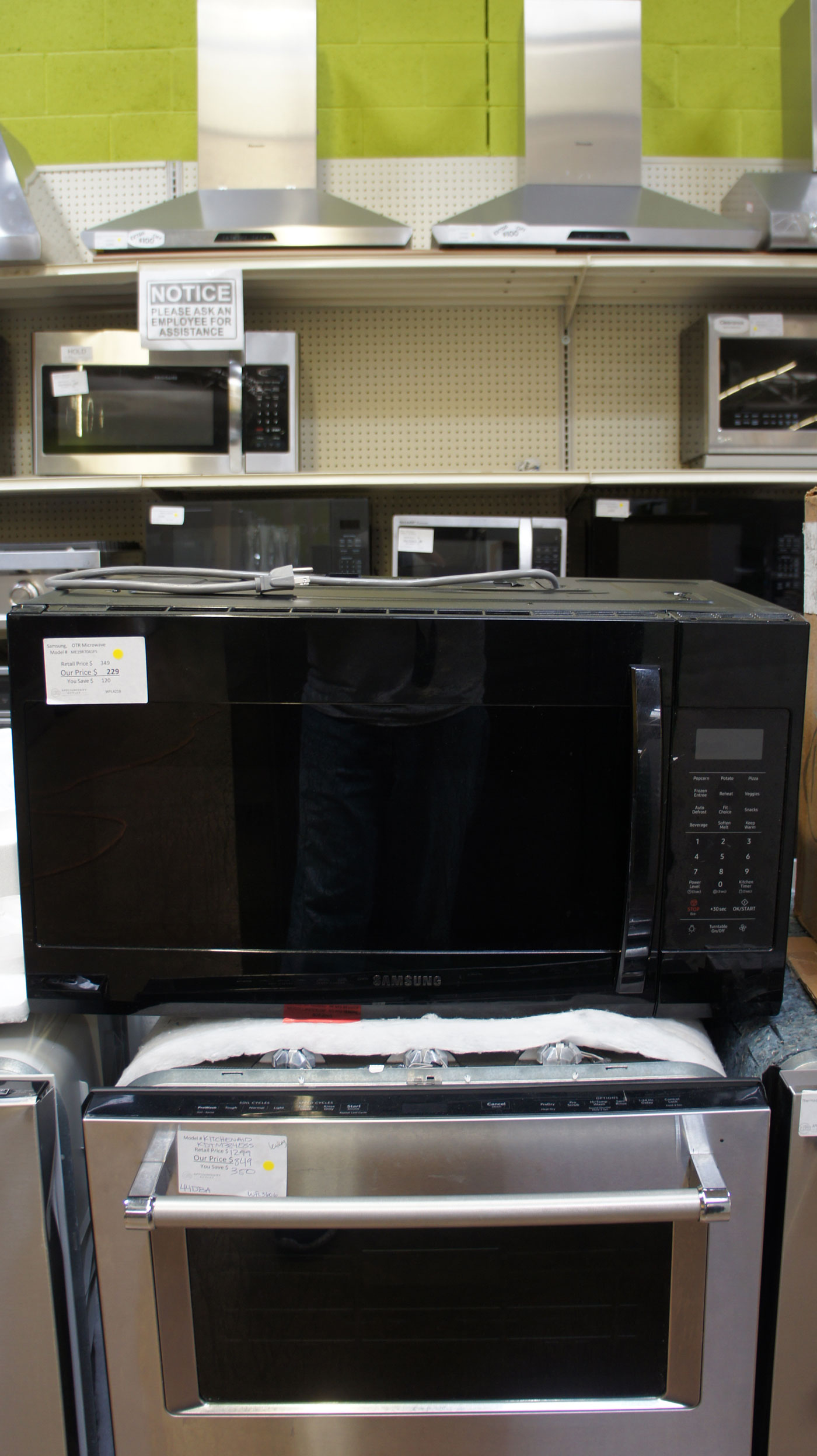 1.9 cu.ft. Samsung ME19R7041FS Over-The-Range Microwave Oven