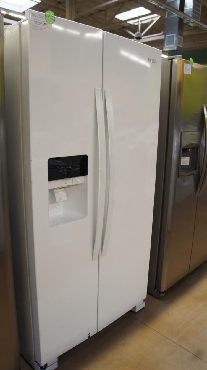 "36"" Whirlpool WRS325SSDHW 25 cu.ft. Side-by-Side Refrigerator"