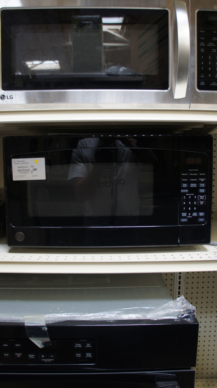 2.0 cu.ft. GE Appliances JES2051SNSS Countertop Microwave Oven