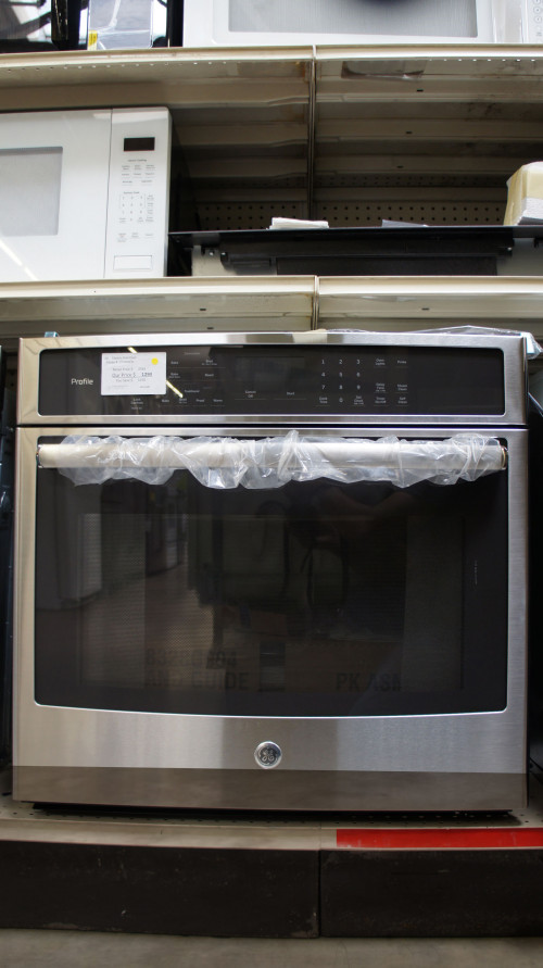 """30 """" GE PT7050SFSS 5.0 cu.ft. Capacity Single Electric Wall Oven"""