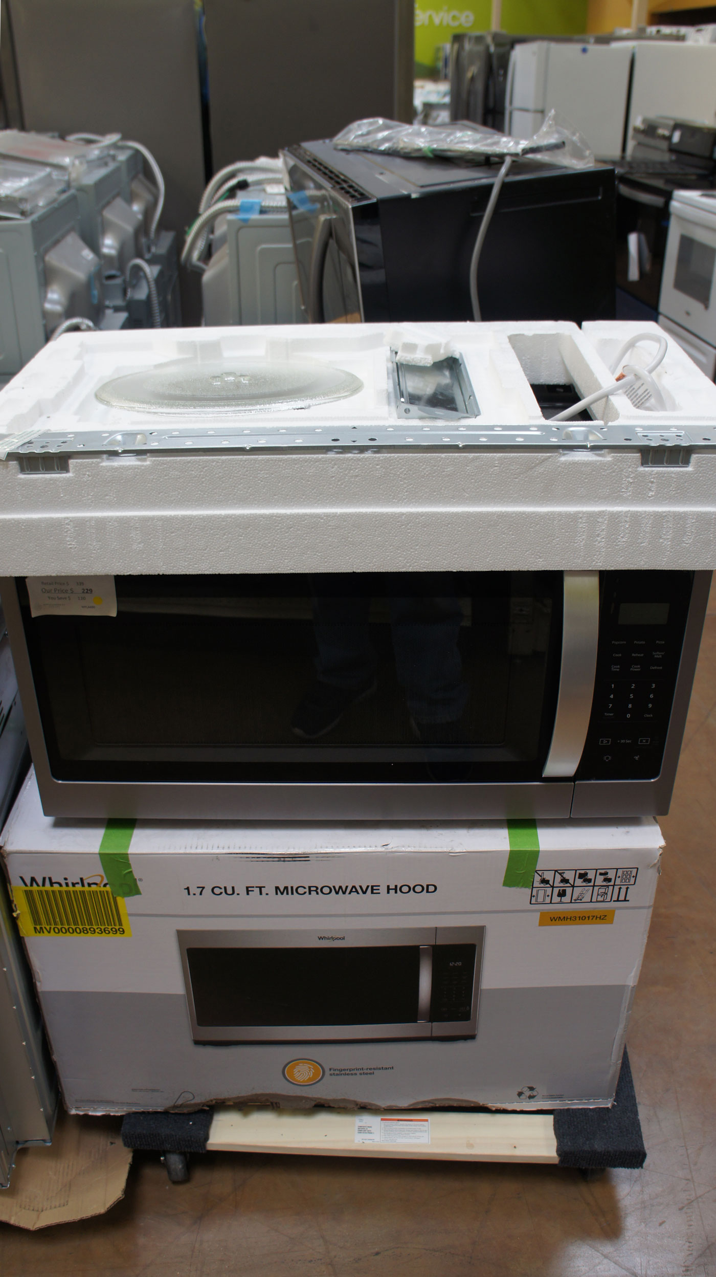 1.7 cu.ft. Whirlpool WMH31017HZ Over-The-Range Microwave Oven