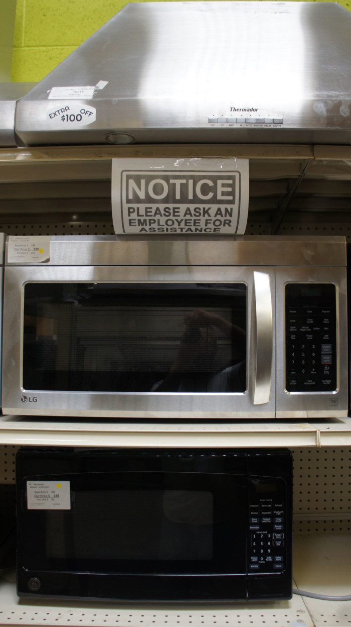 """2.0 cu.ft. LG LMV2031BD 30"""" Over-The-Range Microwave Oven"""