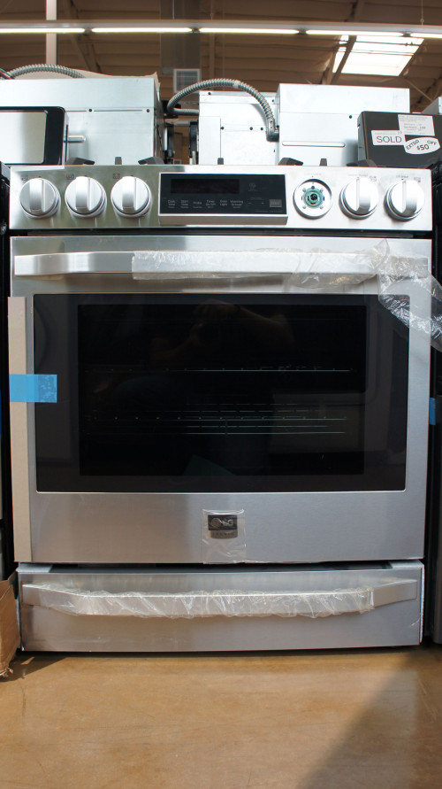"30"" LG LSSG3017ST 6.3cu.ft. Smart Slide-In Gas Range"
