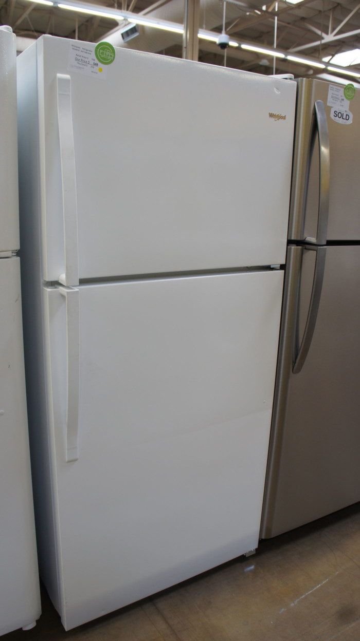 "30"" Whirlpool WRT108FZDW 18.2 cu.ft. Top-Freezer Refrigerator"