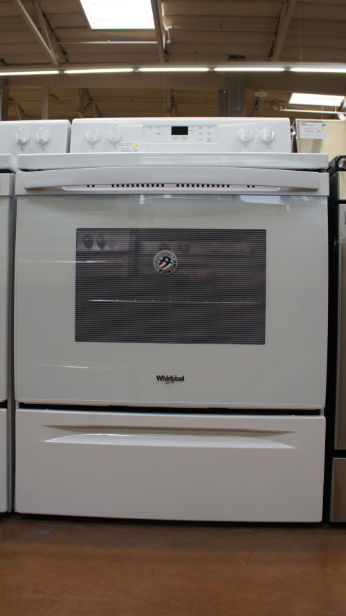 "30"" Whirlpool WFC150M0JW 4.8 cu.ft. Freestanding Electric Range"