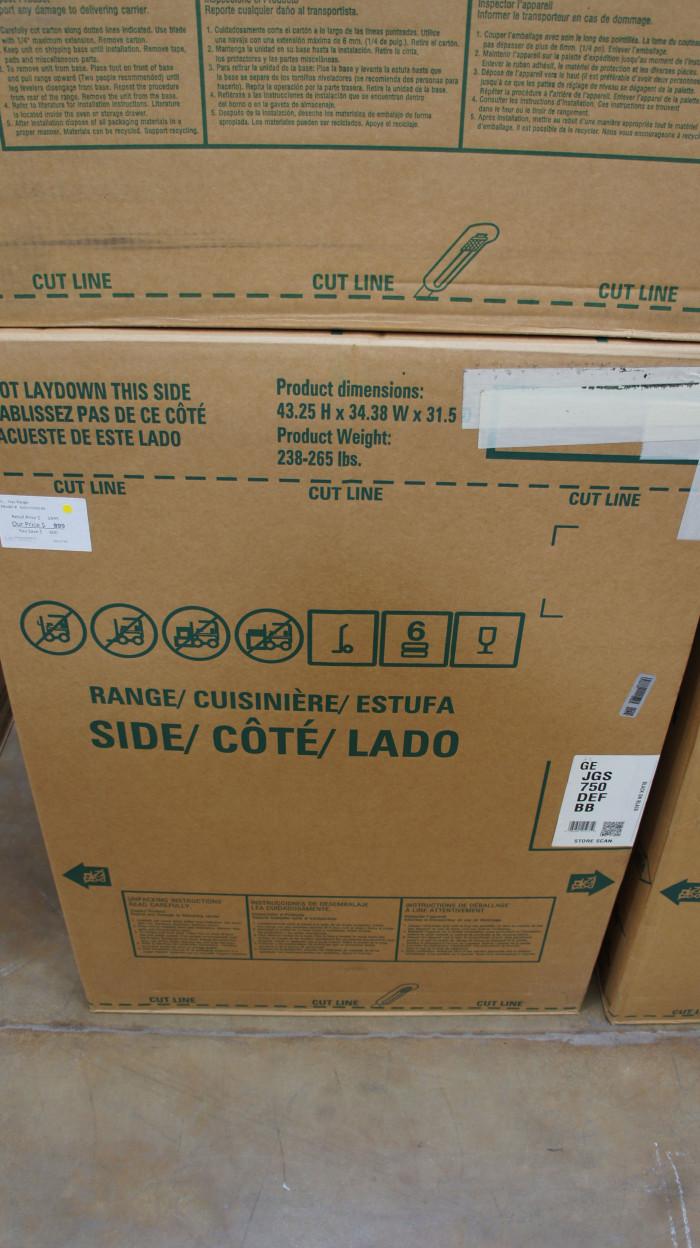 """30"""" GE JGS750SEFSS 5.6 cu.ft. Slide-In Gas Range"""