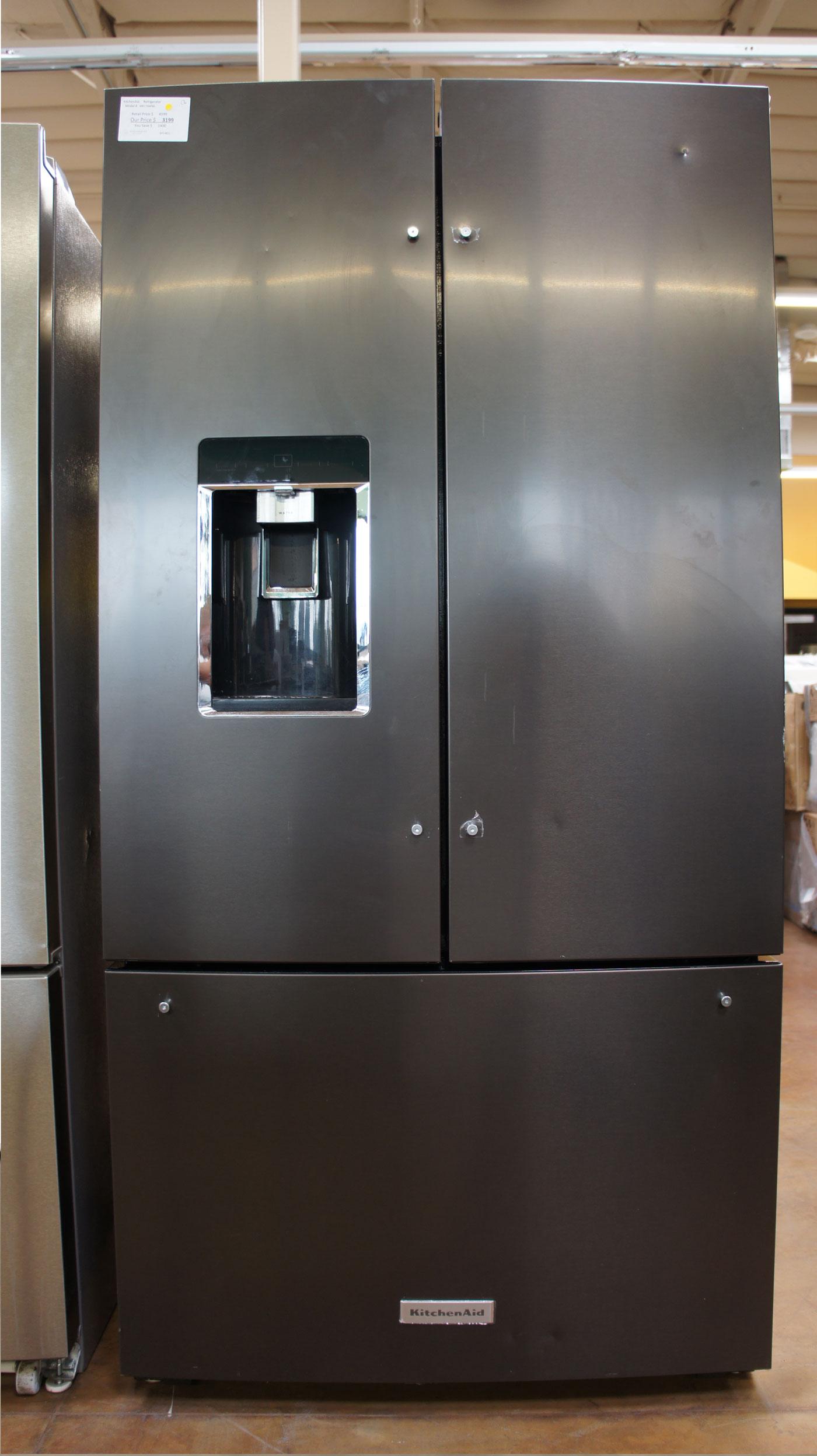 "36"" KitchenAid KRFC704FBS 23.8 cu.ft. French Door Refrigerator"