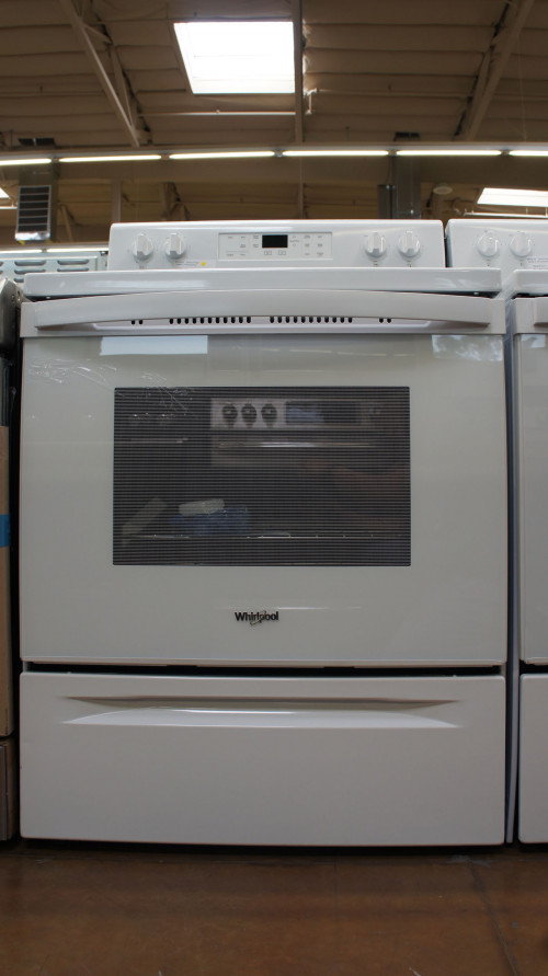 "30"" Whirlpool WFE505W0HW 5.3 cu.ft. Freestanding Electric Range"