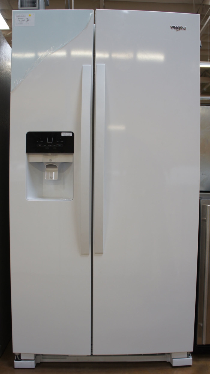 """36"""" Whirlpool WRS325SDHW 24.6 cu.ft. Side-by-Side Refrigerator"""