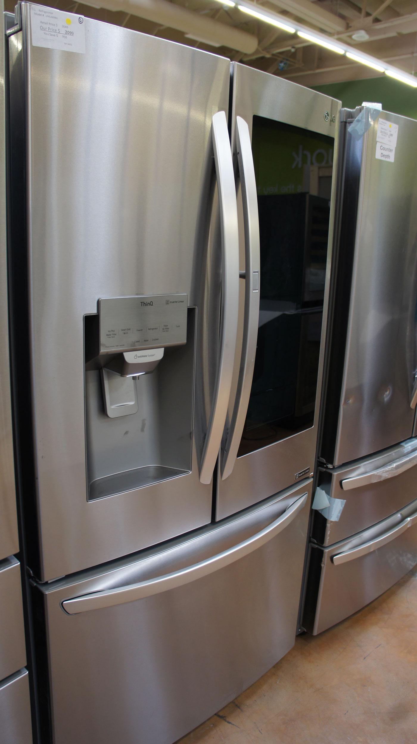 """36"""" LG LFXS26596S Smart French Door 26 cu.ft. Refrigerator"""