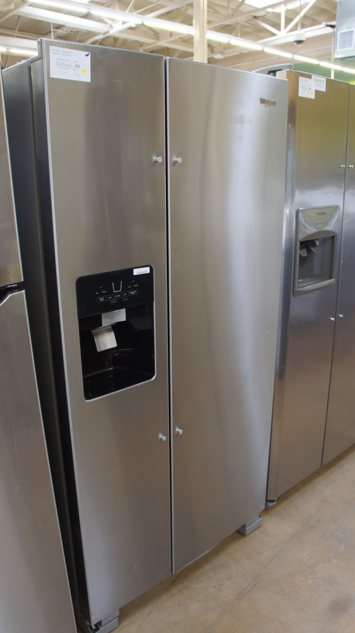"33"" Whirlpool WRS321SDHZ 21.4 cu.ft. Side-by-Side Refrigerator"