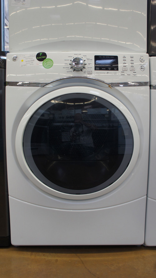 "27"" GE GFD45ESSMWW 7.5 cu.ft. Capacity Electric Dryer"