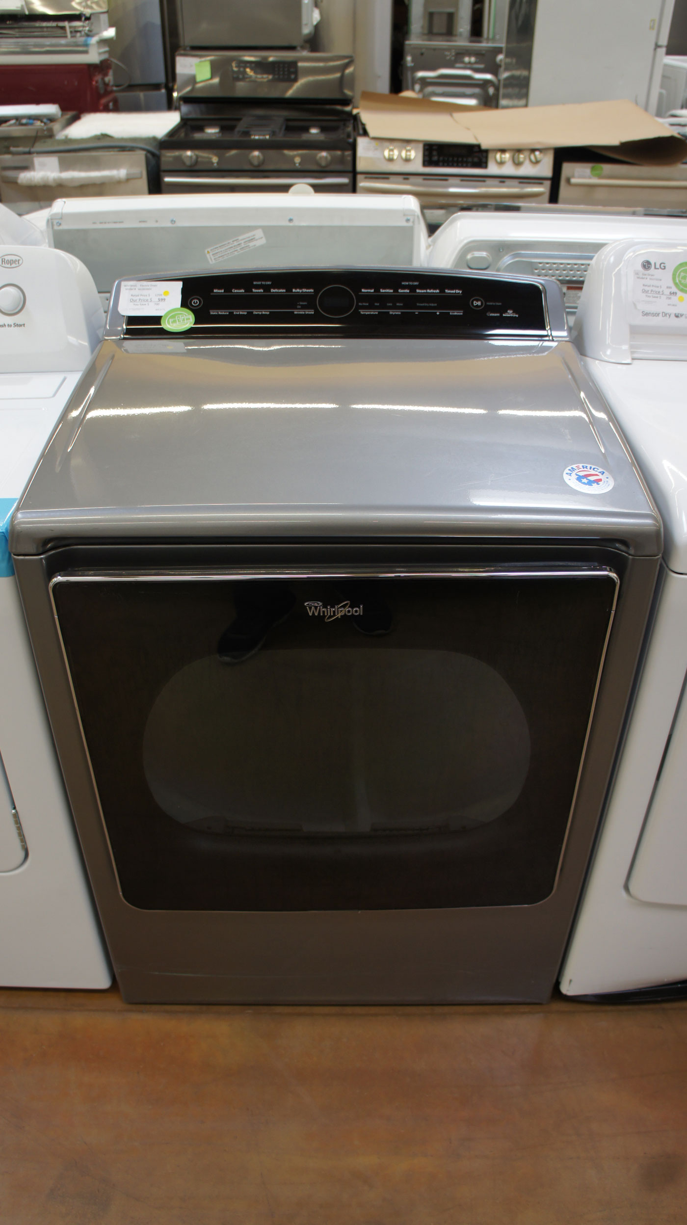 "29"" Whirlpool WED8500DC 8.8cu.ft. Capacity Electric Dryer"