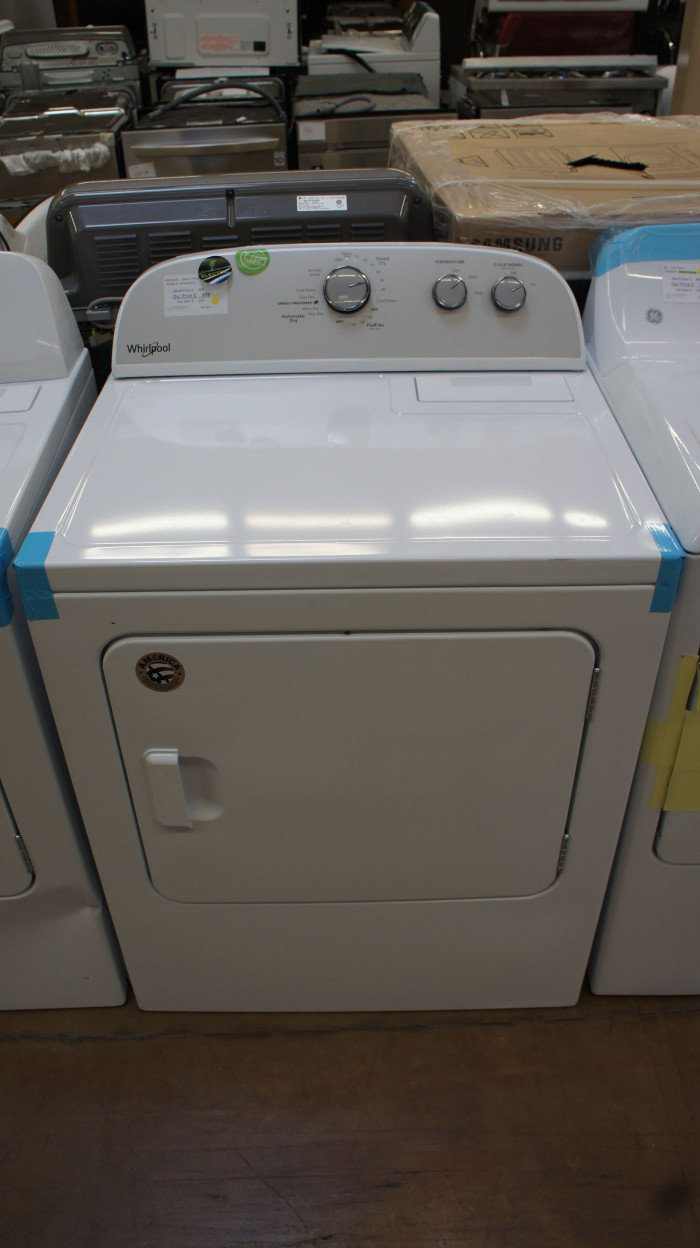 "29"" Whirlpool WED4815EW 7.0 cu.ft. Capacity Electric Dryer"