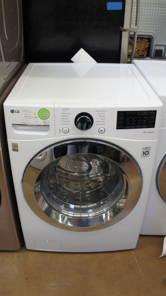 """27"""" LG WM3700HWA 4.5 cu.ft. Capacity Front Load Smart Washer"""