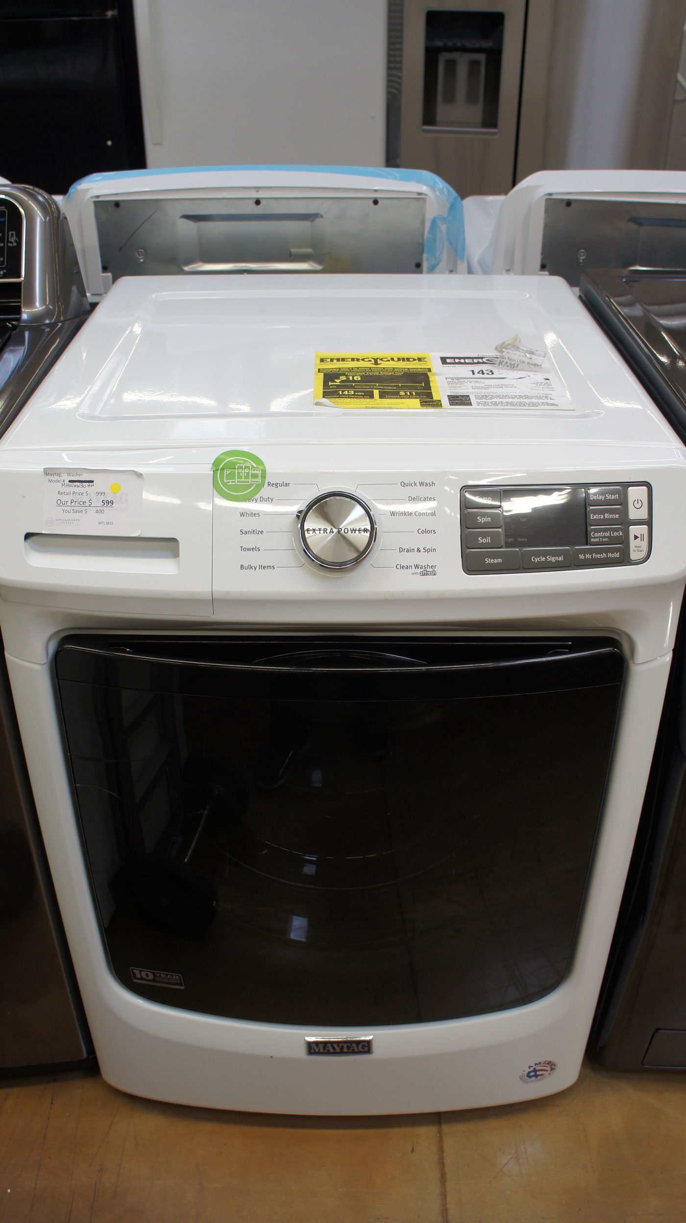 """27"""" Maytag MHW6630HW 4.8 cu.ft. Capacity Front Load Washer"""