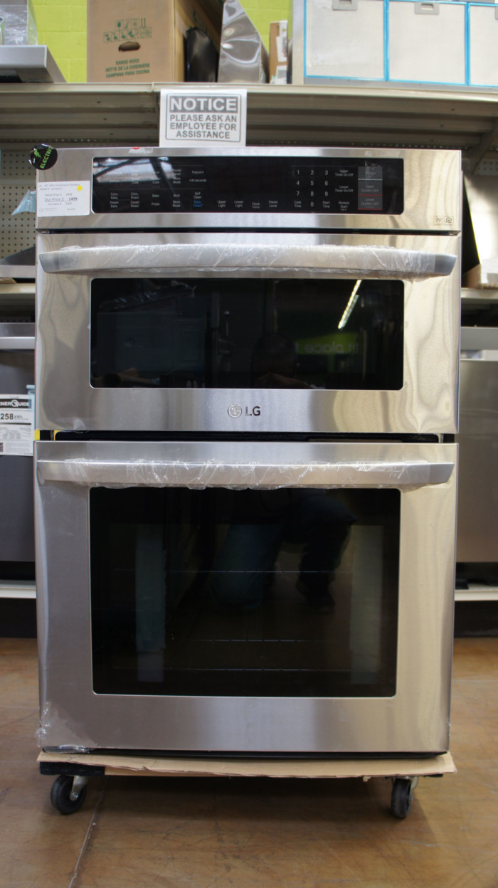 """LG LWC3063ST 30"""" Smart Wi-Fi Electric Combination Wall Microwave-Oven"""