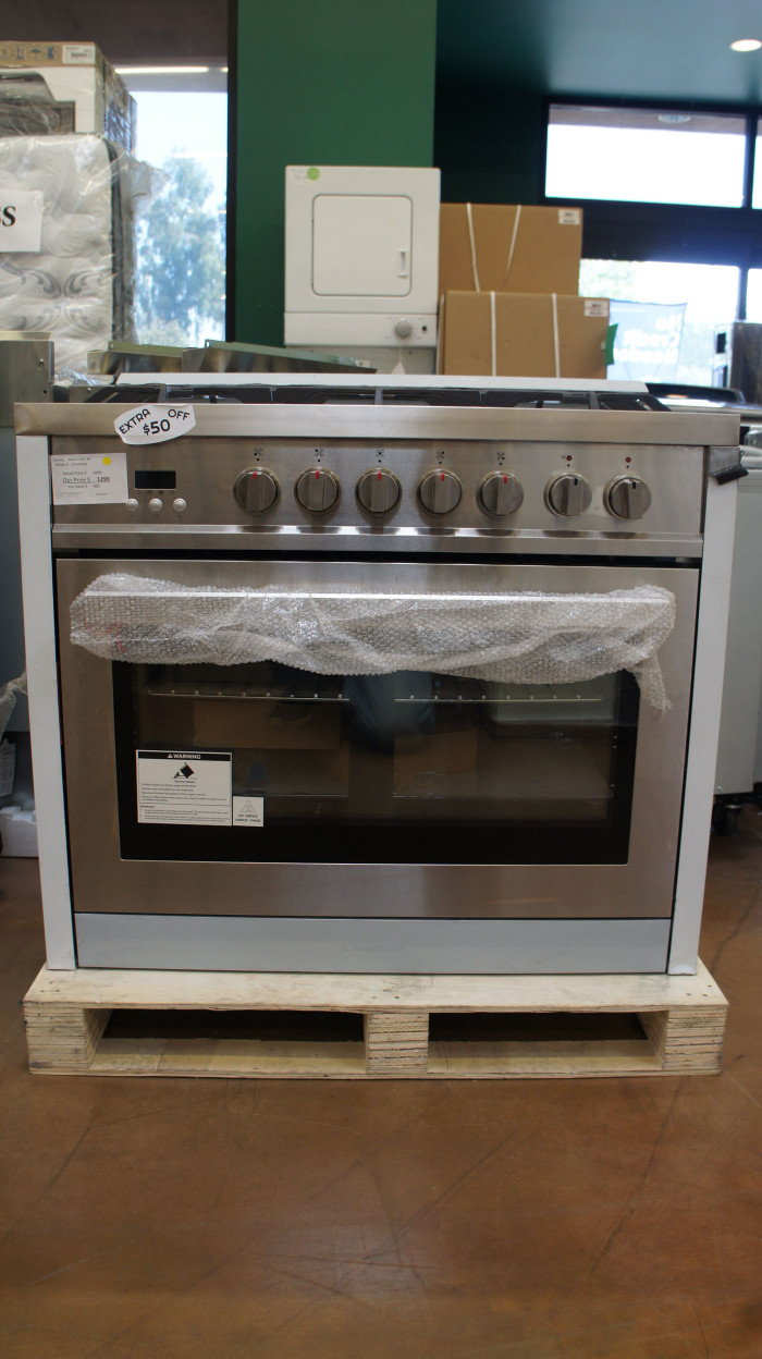 "36"" Cosmo COS-F965NF 3.8 cu.ft. Dual Fuel Range Convection Oven"