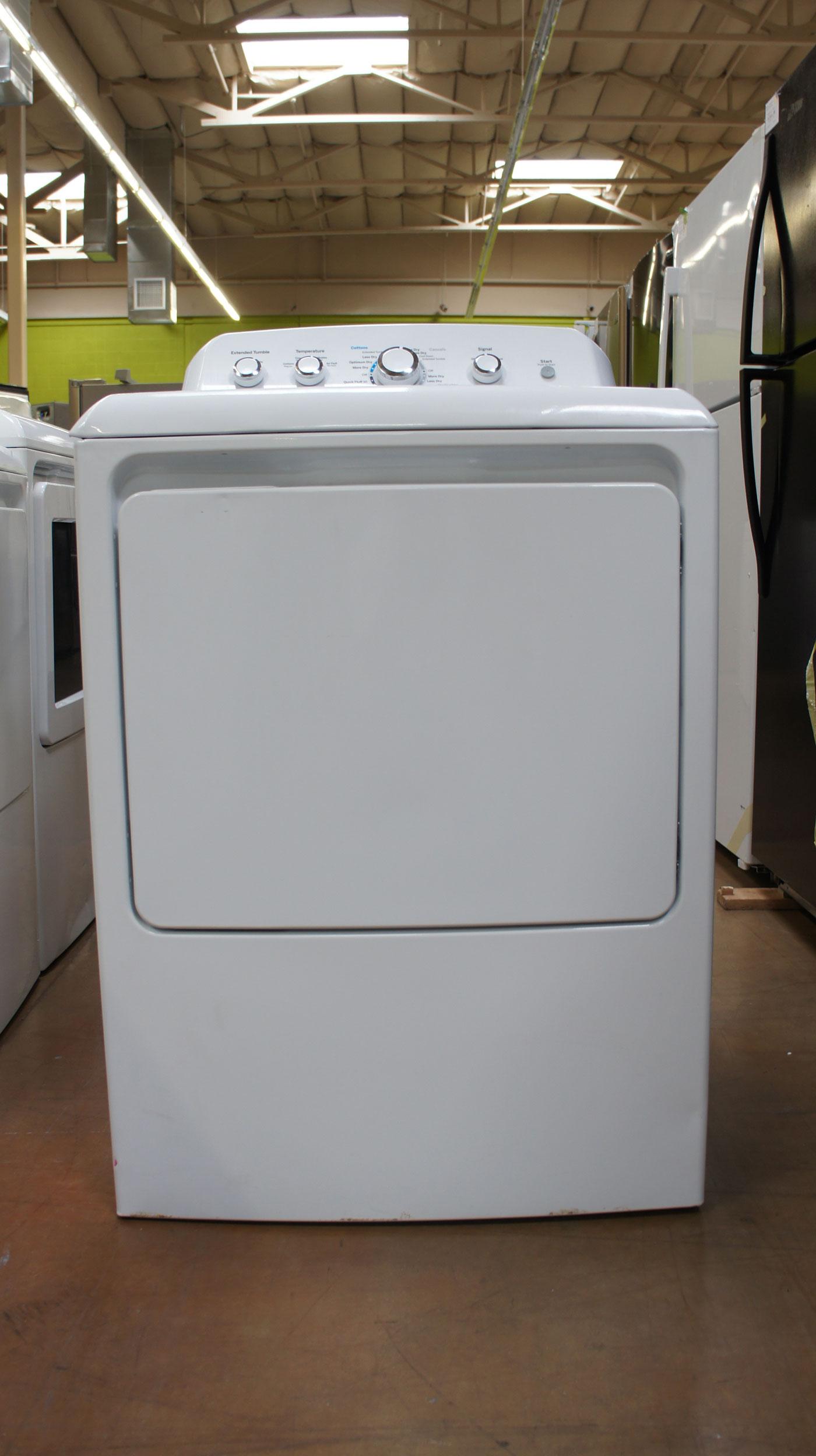 """27"""" GE GTD42EASJWW 7.2 cu.ft. Capacity Electric Dryer"""