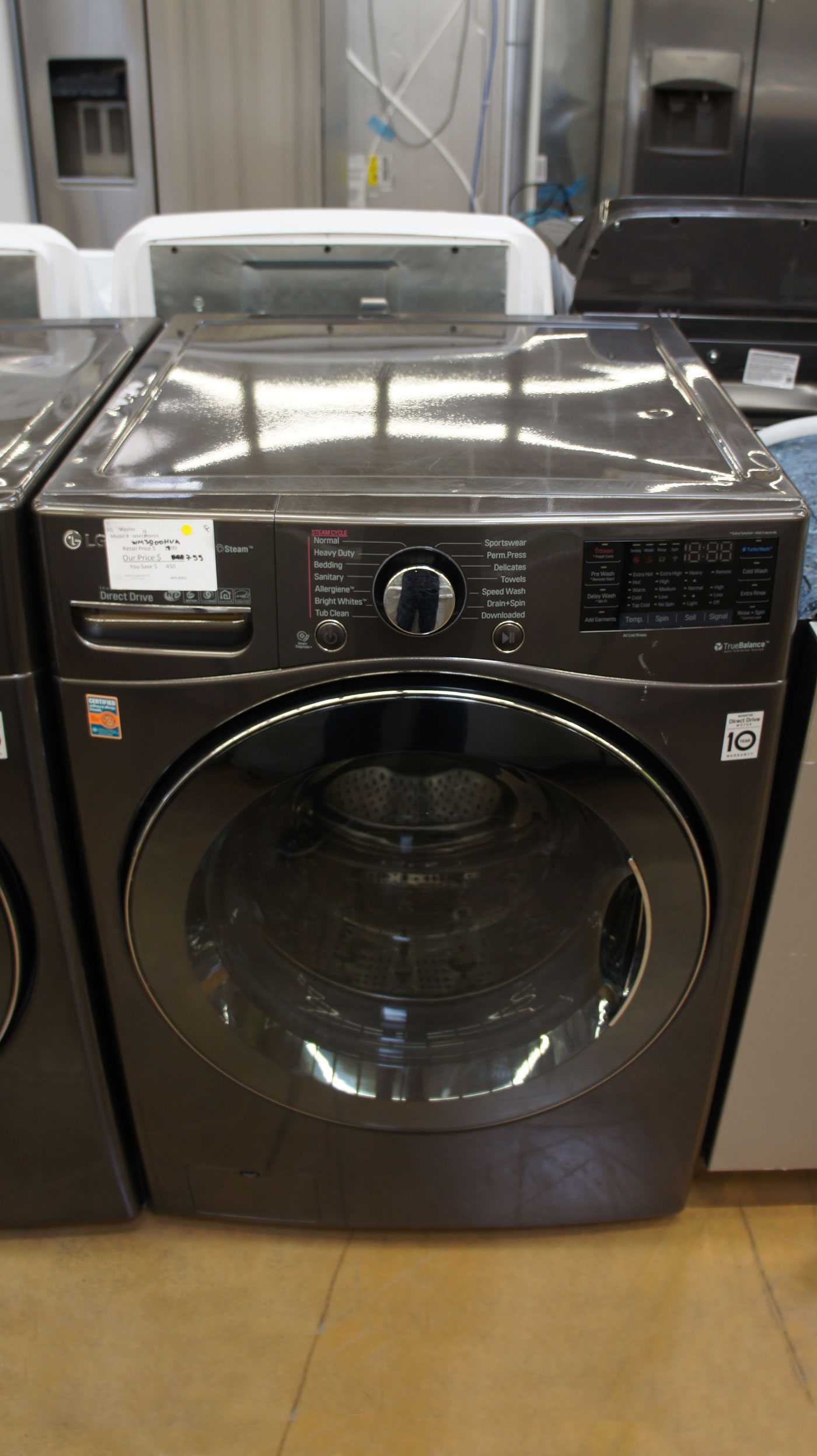 "27"" LG WM3900HWA 4.5 cu.ft. Capacity Smart Washer"