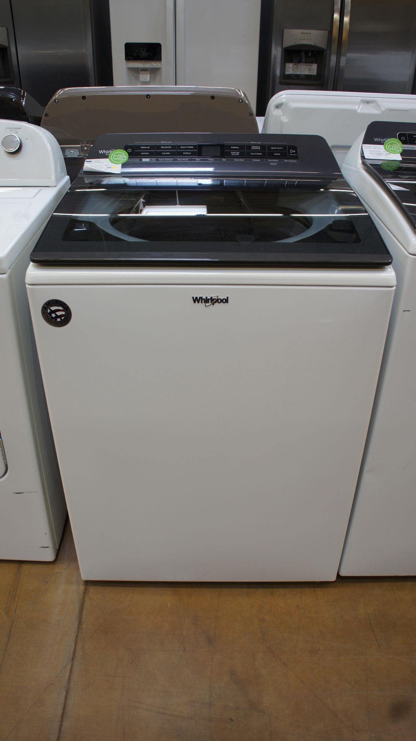 "27"" Whirlpool WTW6120HW 4.8 cu.ft. Top Load Smart Washer"