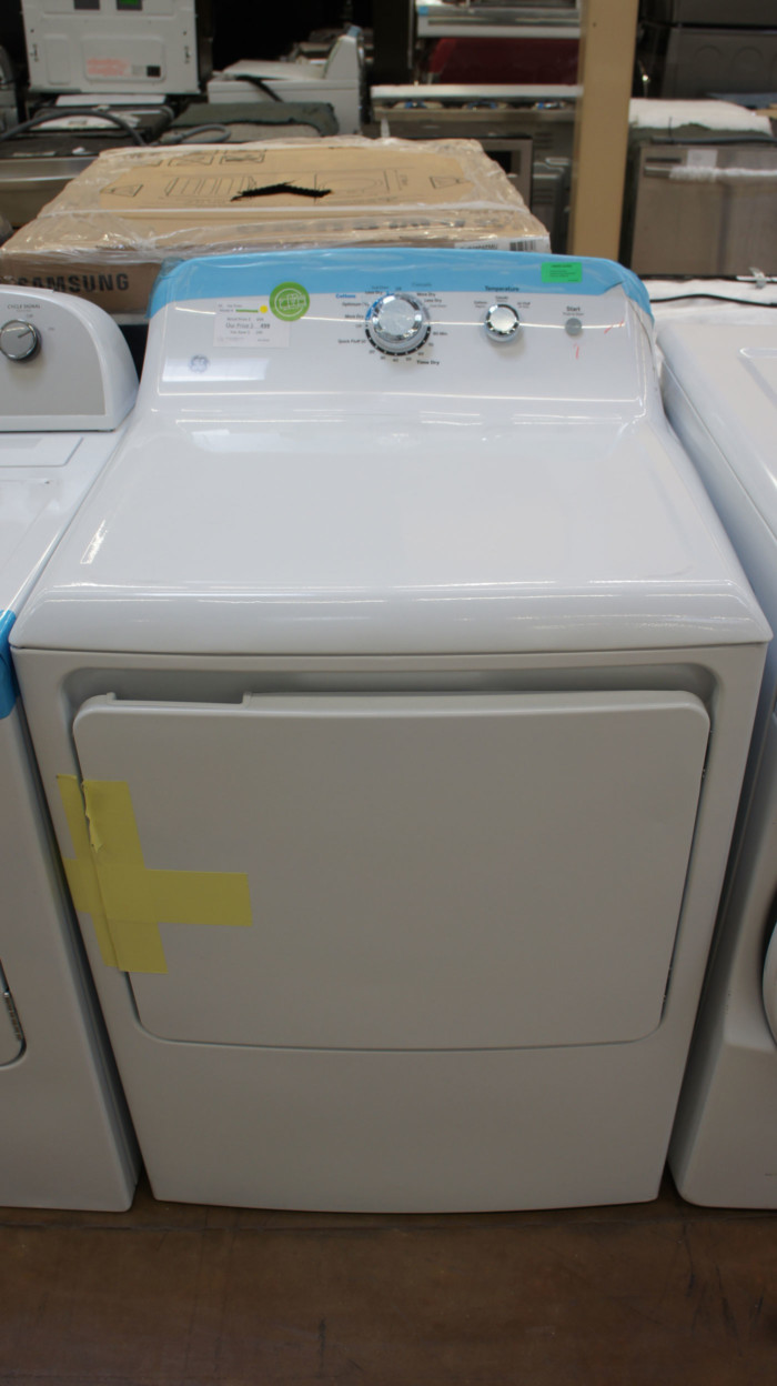 """27"""" GE GTD33GASKWW 6.2 cu.ft. Capacity Gas Dryer"""