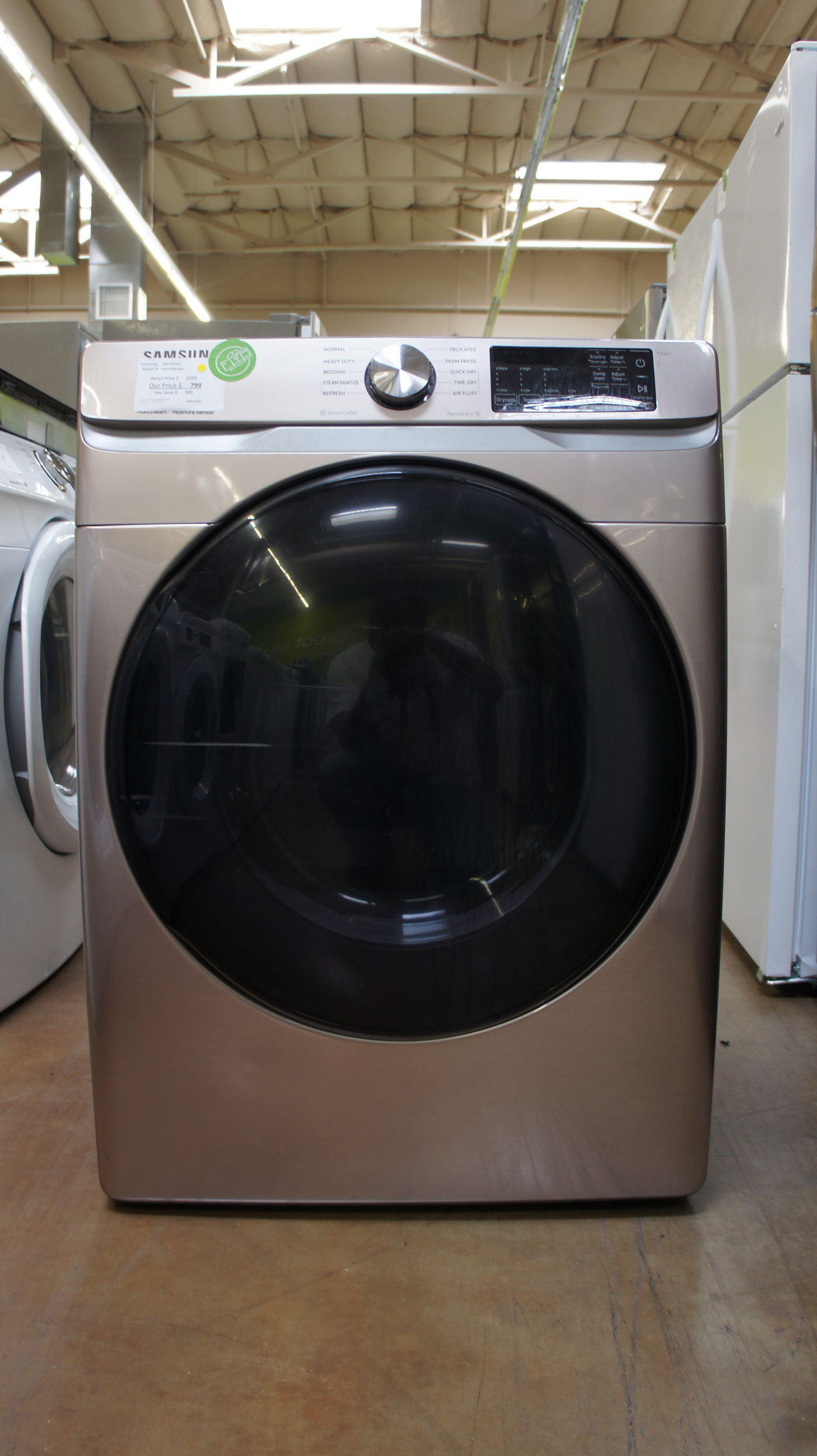"27"" Samsung DVG45R6100C 7.5 cu.ft. Capacity Gas Dryer"
