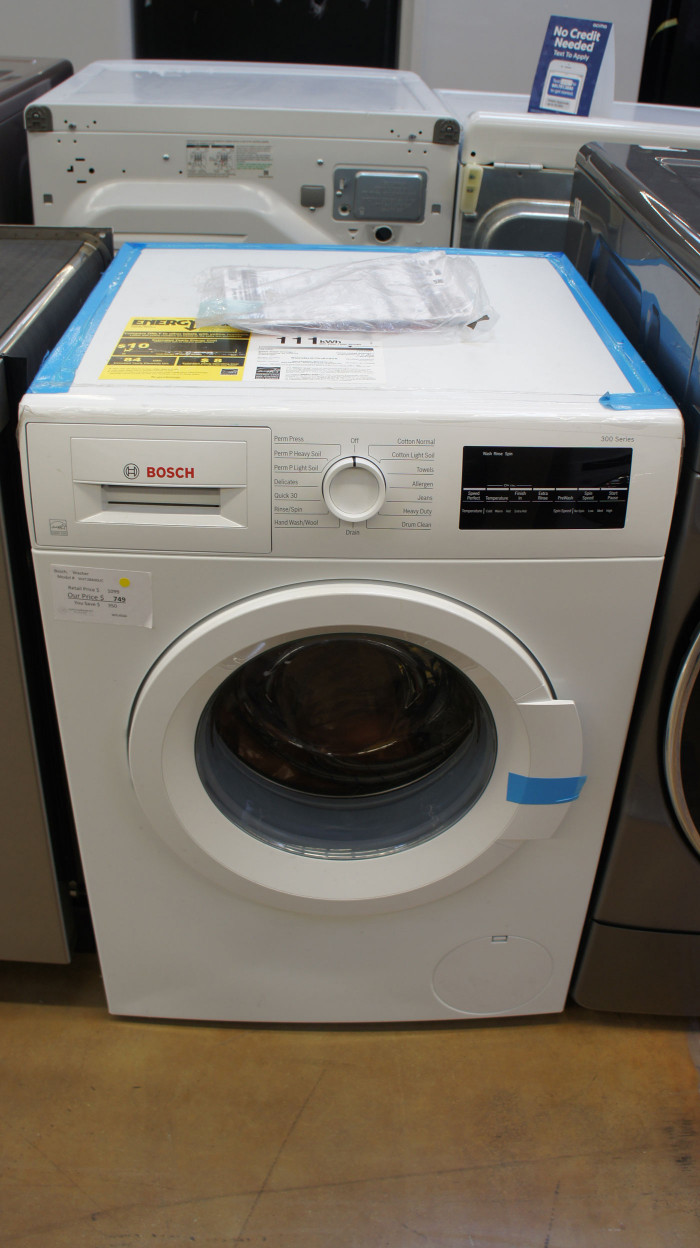 "24"" Bosch WAT28400U 2.2 cu.ft. Capacity Front Load Washer"