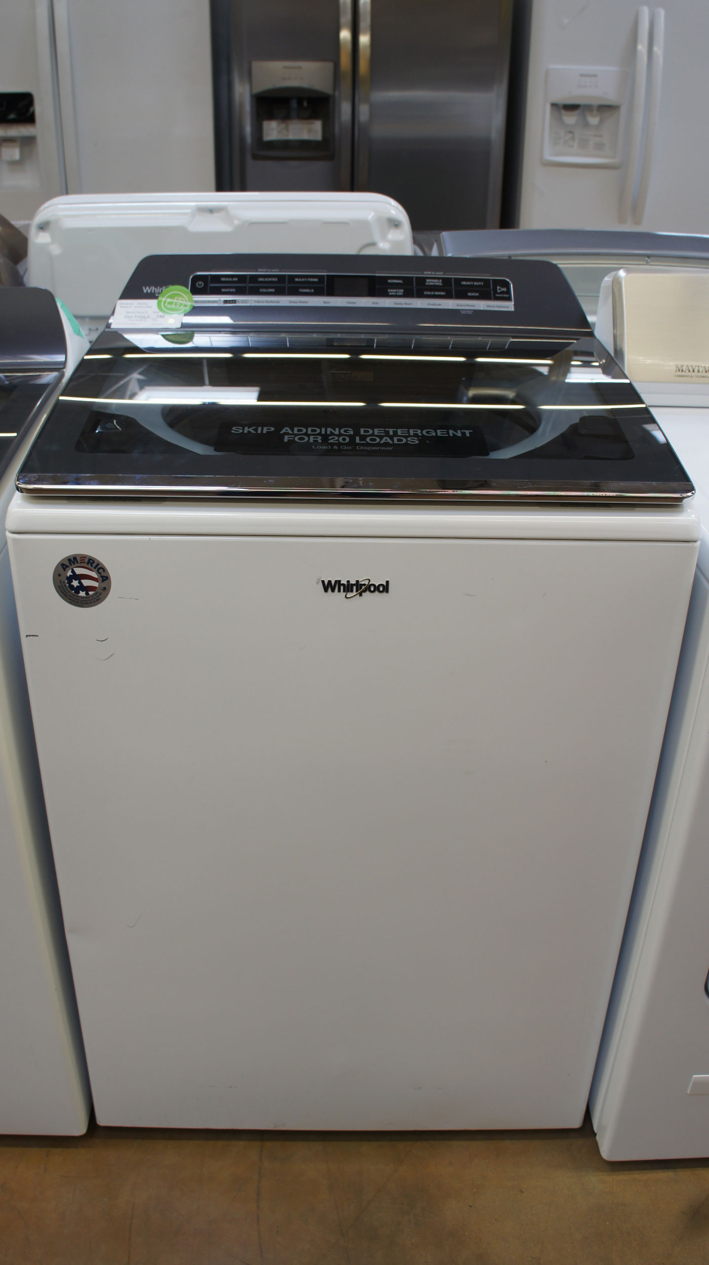 "27"" Whirlpool WTW7120HW 5.3 cu.ft. Top Load Smart Washer"