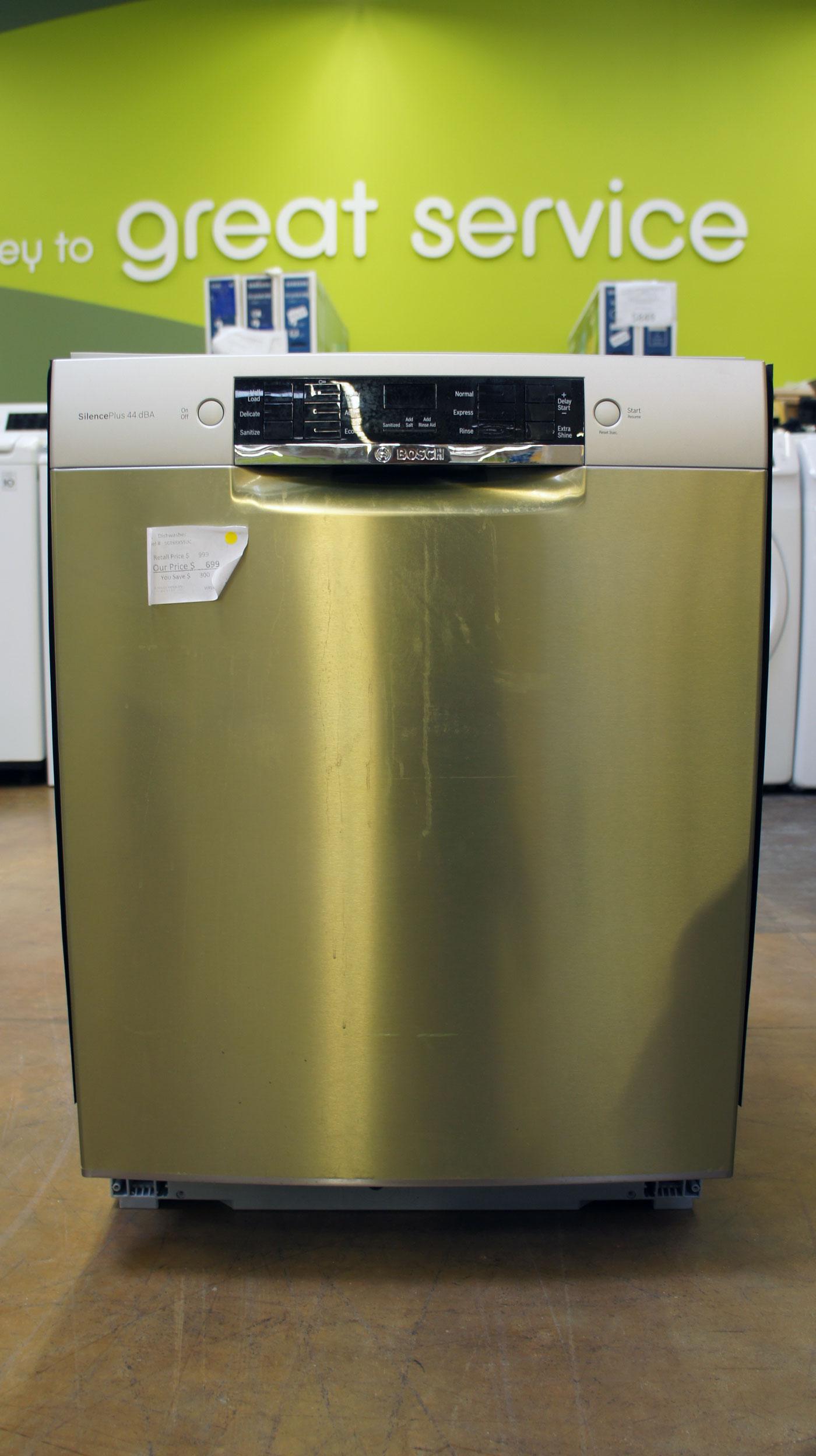 "24"" Bosch 800 Series SGE68X55UC Full Console Dishwasher"