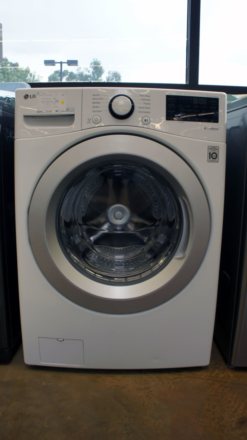 """27"""" LG WM3500CW 4.5 cu.ft. Capacity Front Load Smart Washer"""