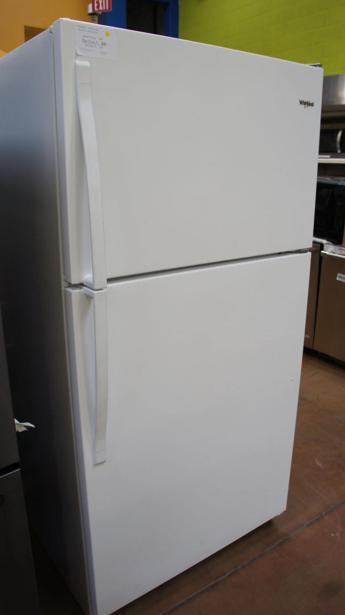 """33"""" Whirlpool WRT311FZDW 20.51 cu.ft. Top Freezer Refrigerator"""