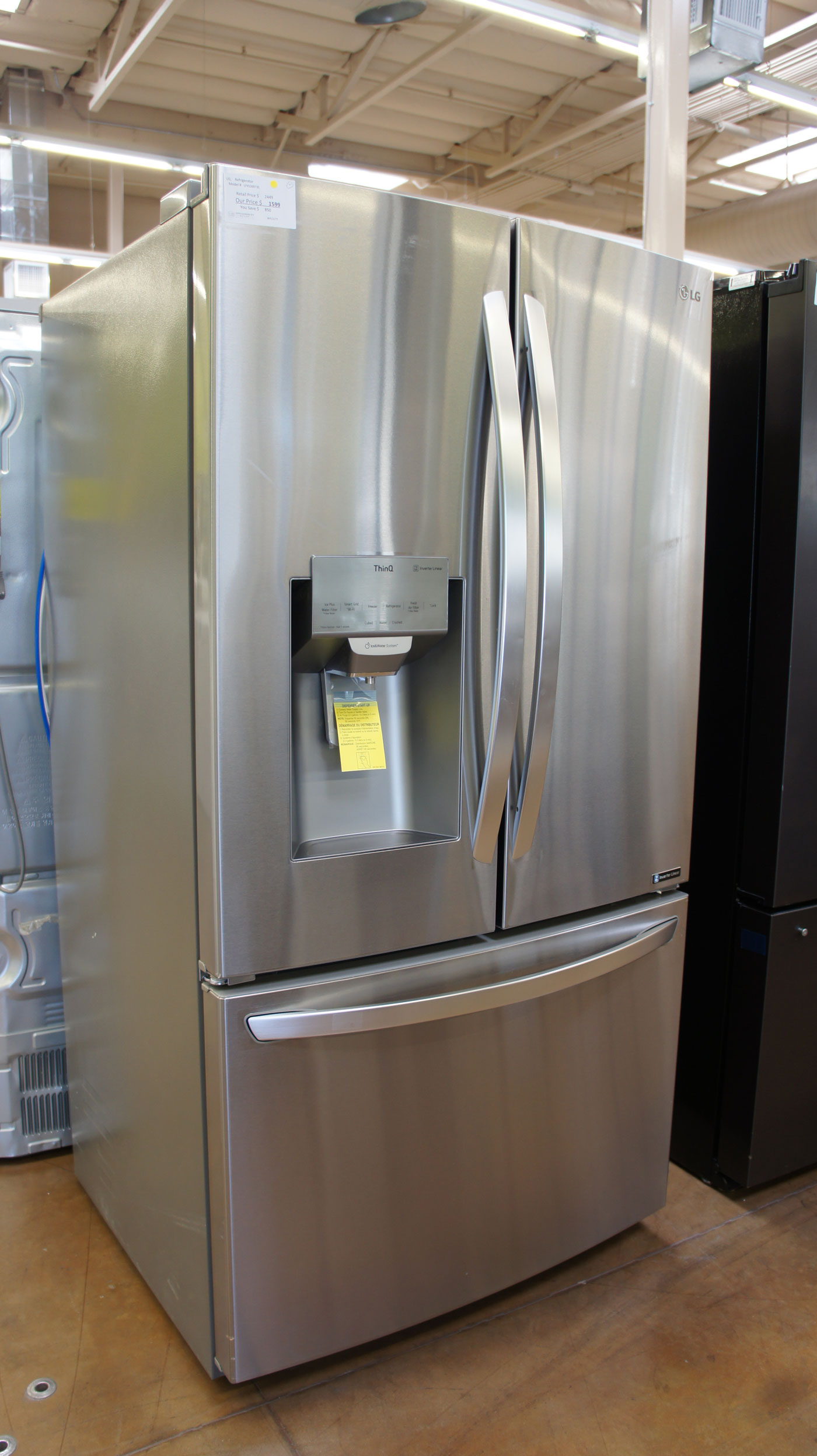 "36"" LG LFXS26973S 26.2 cu.ft. Smart French Door Refrigerator WFL5177"