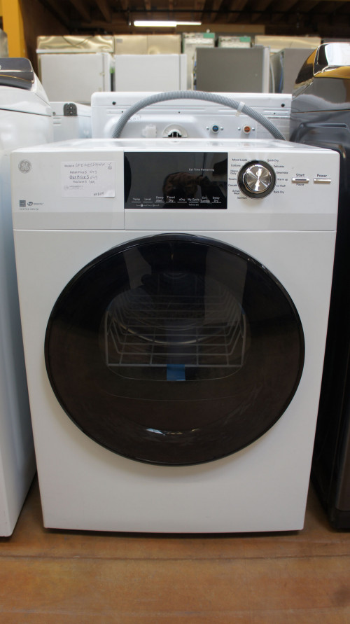"24"" GE GFD14ESSNWW Front Load Smart Dryer"