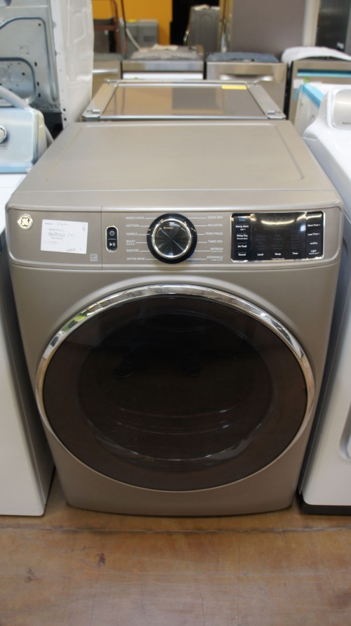 "28"" GE GFD65ESPNSN Front Load Smart Electric Dryer"