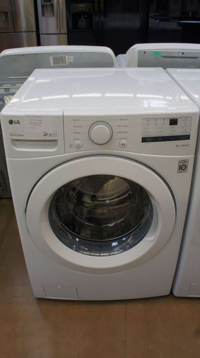 "27"" LG WM3400CW Front Load Washer"