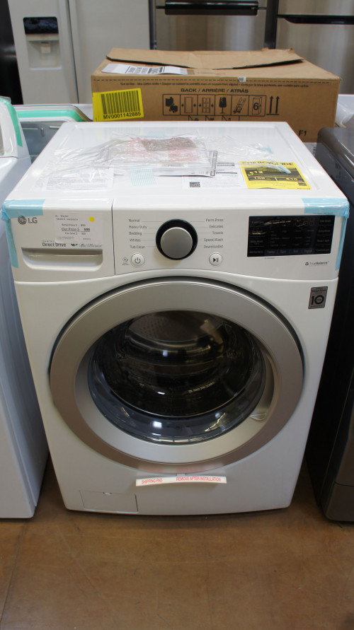 """27"""" LG WM3500CW Front Load Washer"""