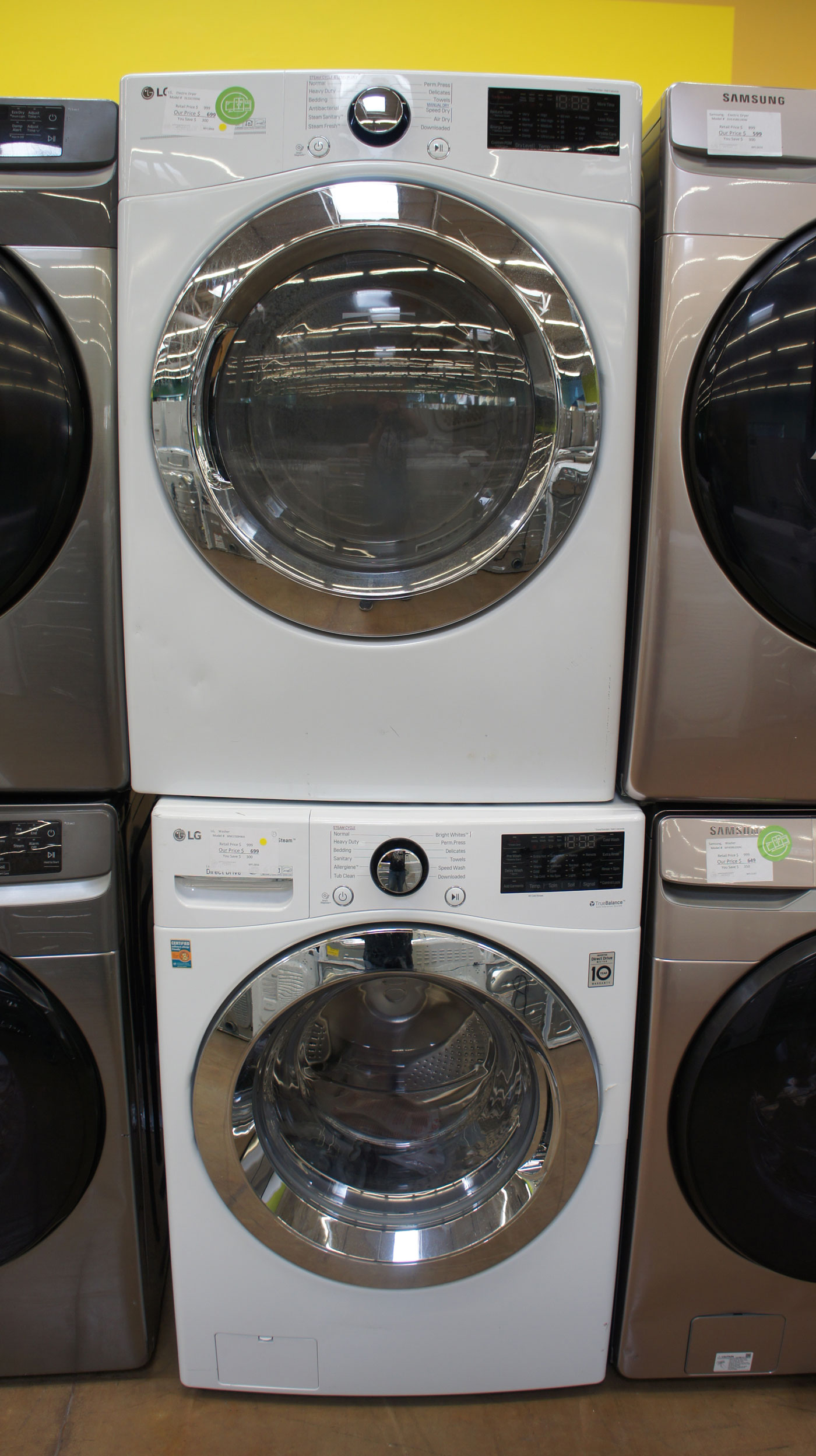 LG WM3700HW DLEX3700W Washer Dryer Set