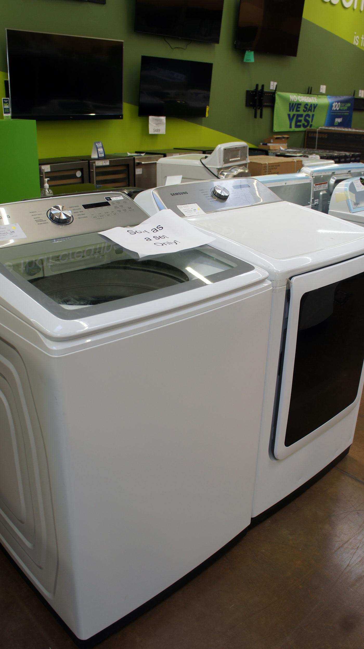 Maytag WA50R5200AW DVE50R5400V Washer Dryer