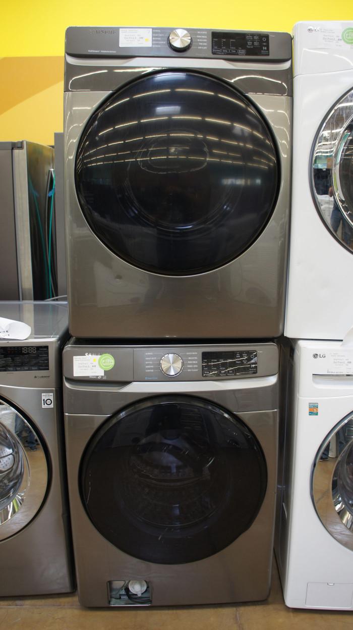 Samsung WF45R6100AP DVE45R6100W Laundry Set