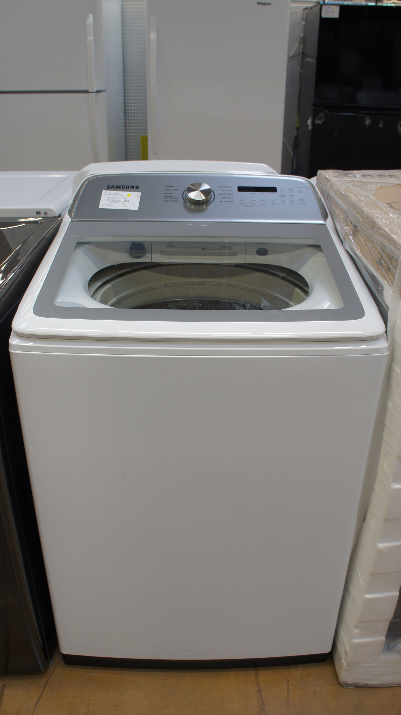 "27"" Samsung WA50R5200AW Top Load Washer"