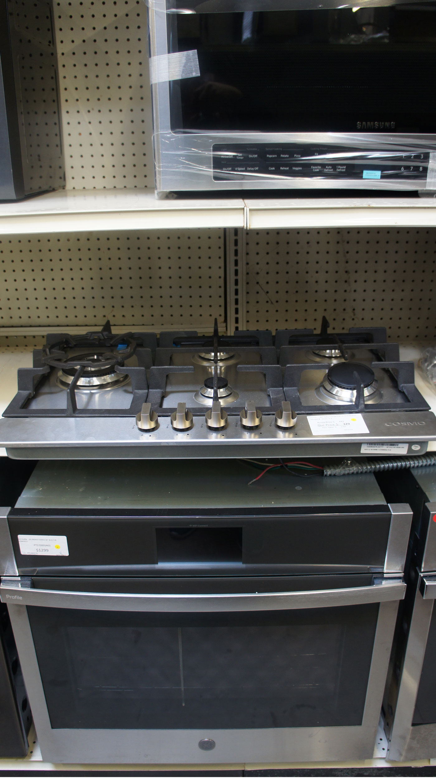 """30"""" Cosmo COS850SLTX-E Stainless Steel Natural Gas Cooktop"""