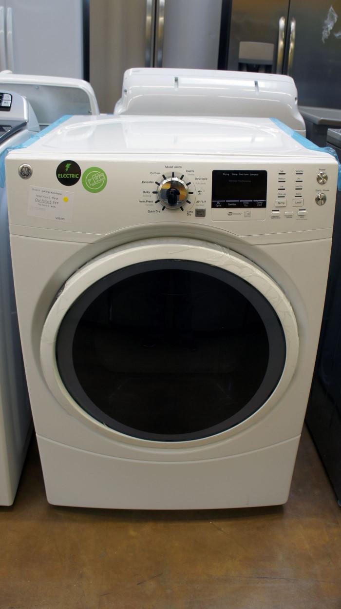 "27"" GE GFD43ESSMWW Electric Dryer"