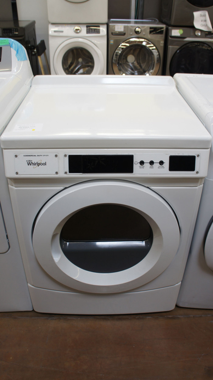 """27"""" Whirlpool CGD9160GW Commercial Front Load Gas Dryer"""