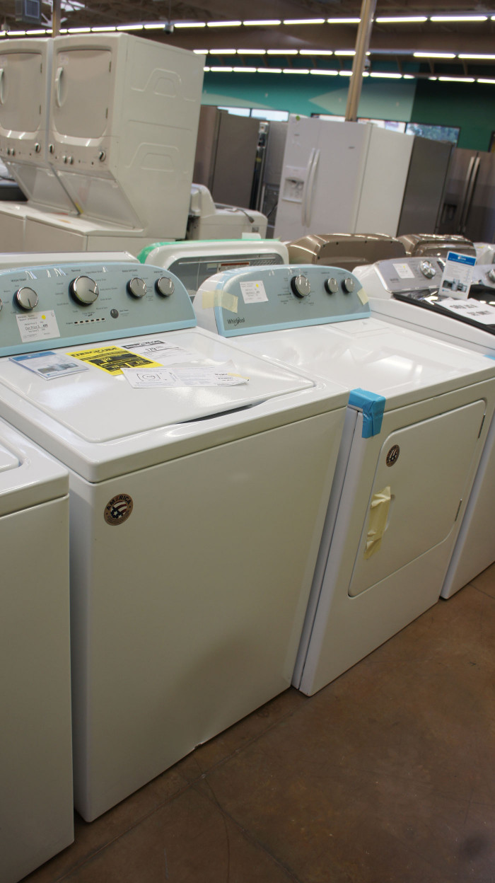 Whirlpool WTW5000DW and WED4815EW Laundry Set