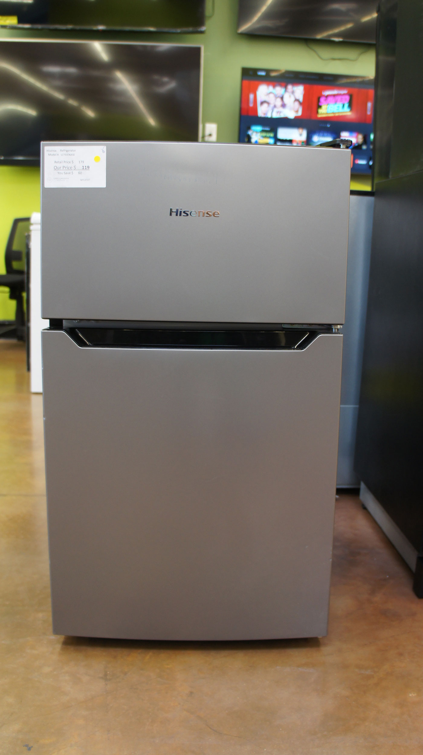 3.3 cu.ft. Hisense LCT33D6ASE Mini-Fridge